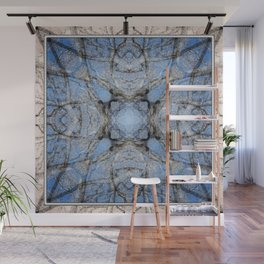 MAGIC WINTER COTTONWOOD MANDALA Wall Mural