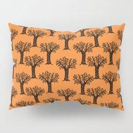 Halloween tree spooky autumn winter october trees orange and black Pillow Sham