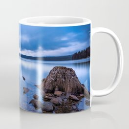 Old Barren Tree Stumps At Lakeside Shallow Water Coffee Mug
