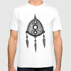 amulet MEDIUM Mens Fitted Tee White