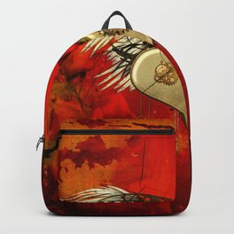 Wonderful steampunk heart with wings Backpack