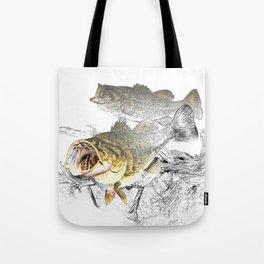 Largemouth Black Bass Fishing Art Tote Bag