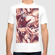 Marsala Shake White MEDIUM Mens Fitted Tee