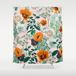 Wildflowers #pattern #illustration Shower Curtain