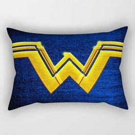 Wonder W Golden Logo Rectangular Pillow