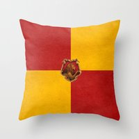 iphone 5 case Throw Pillows featuring Gryffindor iPhone 4 4s 5 5c, pillow, case by neutrone