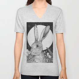 The Hare and The Moon Unisex V-Neck