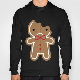 Sad Bitten Cookie Cute Gingerbread Man Hoody