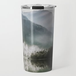 Dreamlike Morning at the Lake - Nature Forest Mountain Photography Travel Mug