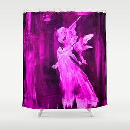 Pink Angel Shower Curtain
