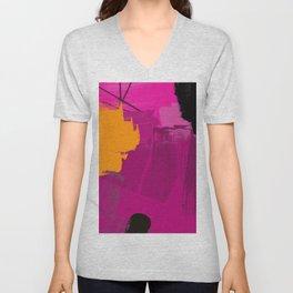 Purple abstract painting F06 pink black orange Digital painting Unisex V-Neck
