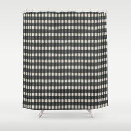 geo brush classic-sage Shower Curtain