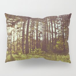 Summer Forest Sunlight - Nature Photography Pillow Sham