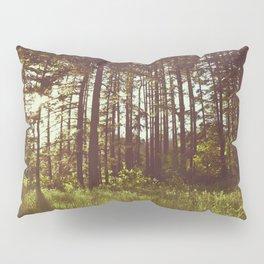 Summer Forest Sunlight - Nature Photography Pillow Sham