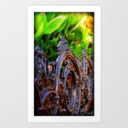 Delicate Metal Art Print