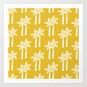 Palm Tree Pattern Mustard Yellow by tonymagner