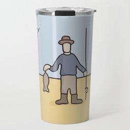 Beavid and Butthead Fisherman picture Travel Mug