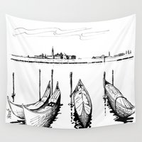 venice Wall Tapestries featuring Venice by Andooga Design
