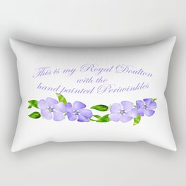 This is my Royal Doulton with Hand Painted Periwinkles Rectangular Pillow