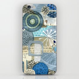 blue collage iPhone Skin