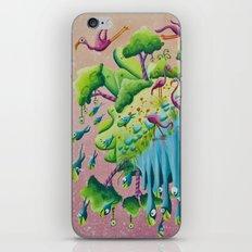 the flamingo world iPhone & iPod Skin