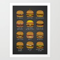 pun Art Prints featuring Pun Buns by geeksweetie