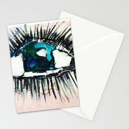 Eyes taped open Stationery Cards
