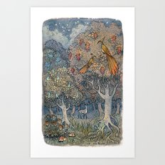 Small secrets of the forest Art Print