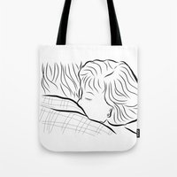 breakfast club Tote Bags featuring The Breakfast Club  by Luster