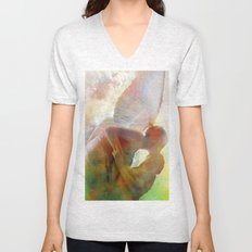 The kiss of the angel Unisex V-Neck