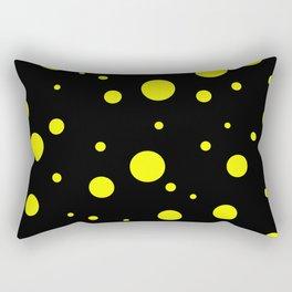 Yellow Bubbles Rectangular Pillow