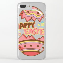 Easter Egg Hunt Happy Easter Cute Kids Women Men Gifts Clear iPhone Case