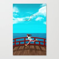 spirited away Canvas Prints featuring Spirited Away by IllustrateKate