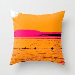 Orca Summer Throw Pillow