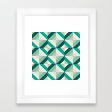 Emerald (Geometric pattern series) Framed Art Print