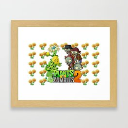 Plants Zombies Framed Art Print