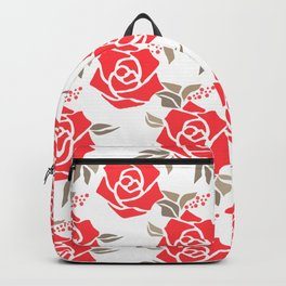Coral roses Backpack