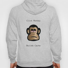 Click Monkey Builds Cache Hoody