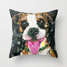 Apollo and Bernie The Boxers Throw Pillow