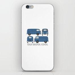 old skool cool – vintage commercial panel van in Dove Blue iPhone Skin