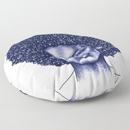 Spiral Afro Floor Pillow