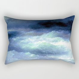 Between the waves by Ivan Aivazovsky Rectangular Pillow