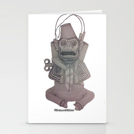 Monkey Bomb  Stationery Cards