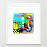good vibes Framed Art Prints featuring Good Vibes by Lynsey Ledray