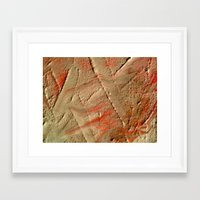 fault Framed Art Prints featuring Fault Lines by Allegra Michaels