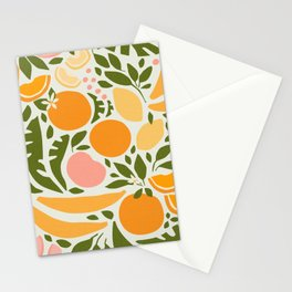 Modern Fruits / Retro Abstraction Stationery Cards