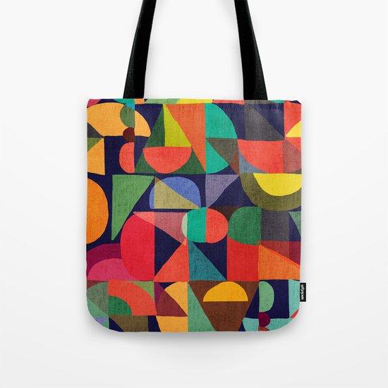 Color Blocks Tote Bag