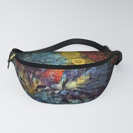 Resting Tabby Cat Circle Mosaic Fanny Pack