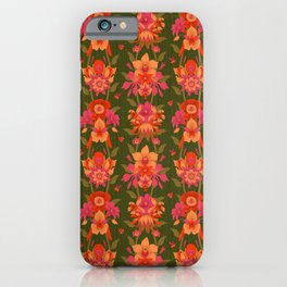 Mystic Flowers of Paradise [GREEN] iPhone Case