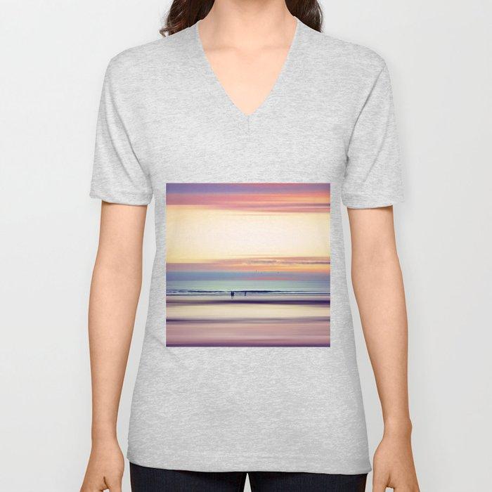 Pastel Horizons Unisex V-Ausschnitt